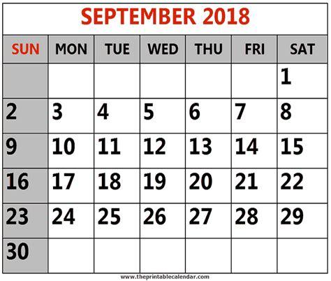 september  printable calendars