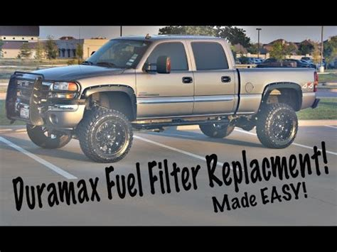 easy duramax fuel filter replacement youtube