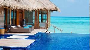 Sfondi : 1366x768 px, spiaggia, bungalow, paesaggio, lusso ...