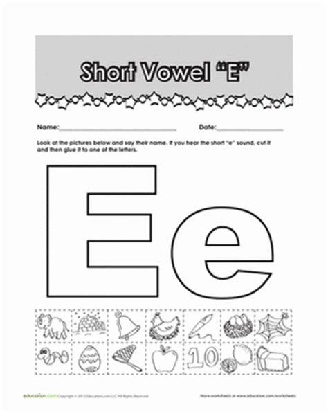 words that start with e preschool quot e quot words worksheet education 879