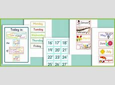 Daily Calendar Free Early Years & Primary Teaching