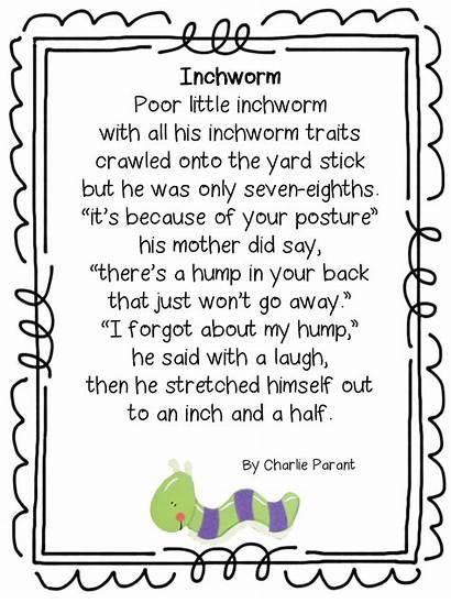 Measurement Unit Math Grade Inchworm Units Preschool
