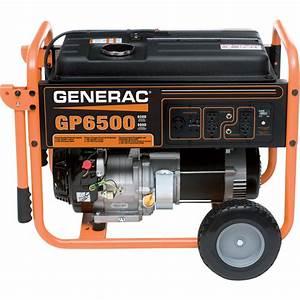 Free Shipping  U2014 Generac Gp6500 Portable Generator  U2014 8125