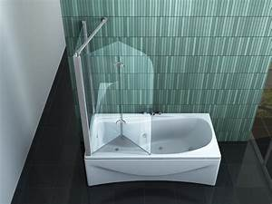 Duschtrennwand Badewanne Glas : perinto 70 120 x 140 badewannen faltwand duschwand ~ Michelbontemps.com Haus und Dekorationen