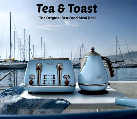 Tostapane Delonghi Icona by Delonghi Icona Kettle And Toaster Set Blue Kettle 4