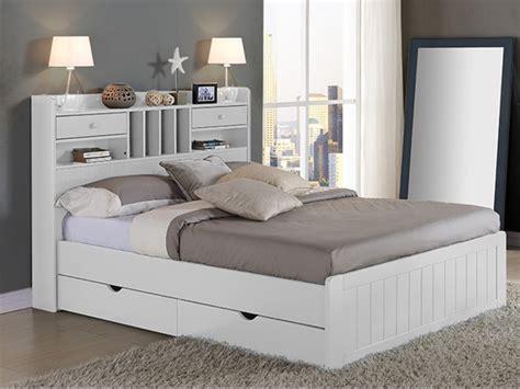 canapé design scandinave pas cher lit mederick avec rangements 140x190 pin massif