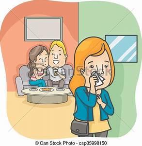 Couple woman cheating. Illustration of a heartbroken woman ...