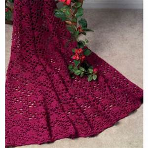 Mary Maxim - Free Lace Enchantment Afghan Crochet Pattern