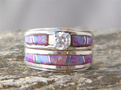 navajo wedding ring native american indian navajo wedding rings band pink opal