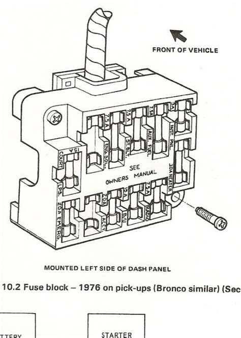 1970 Ford F600 Wiring Diagram by Fuse Block 1976 Ford Truck Enthusiasts Forums Fuse Box
