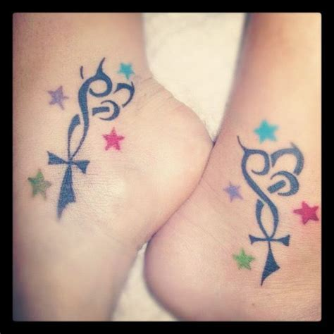 matching sister tattooslove life loyalty  stars