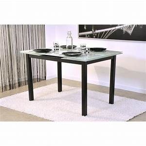 Table à Manger Blanche : table salle manger blanche noire accueil design et mobilier ~ Teatrodelosmanantiales.com Idées de Décoration