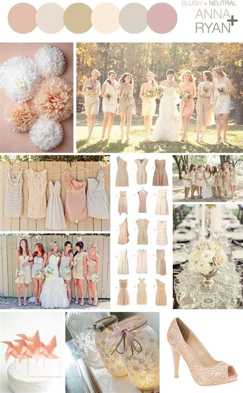 color schemes for weddings rustic neutral wedding color schemes blush neutral