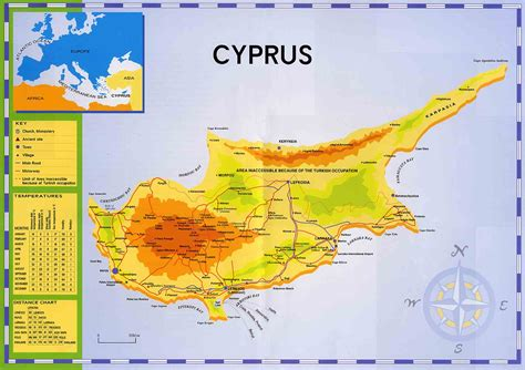cyprus map clickable map  cyprus paphos nicosia