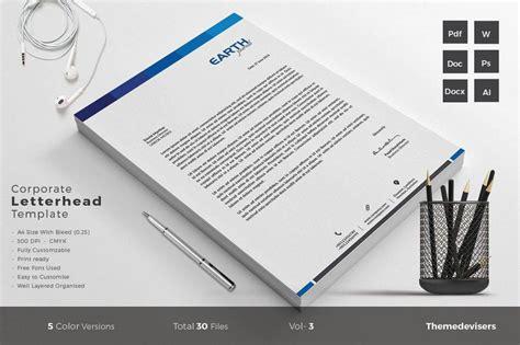 company letterhead designs  examples psd ai