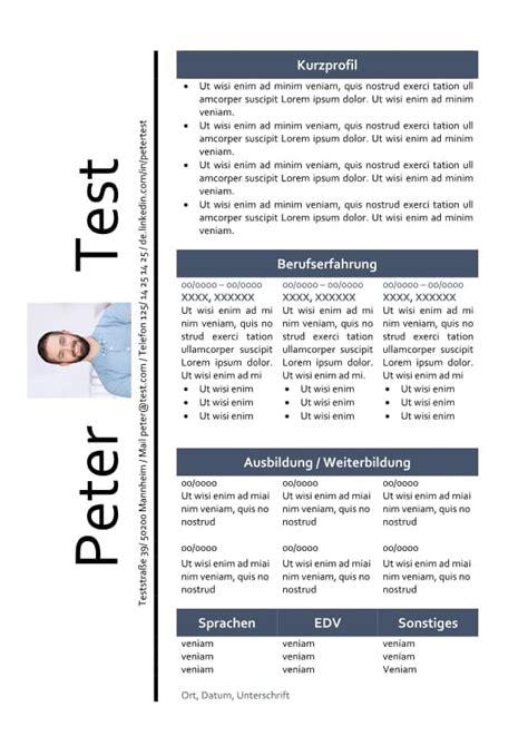 Lebenslauf Mit Foto Muster by Muster Cv Lebenslauf Tabelle Mit Foto Cv Bewerbung