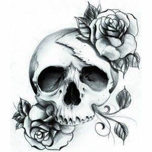 Dessin Tete De Mort Avec Rose : pingl par djuro stupar sur acheter tatouage tattoo stickers et tattoo tete de mort ~ Melissatoandfro.com Idées de Décoration