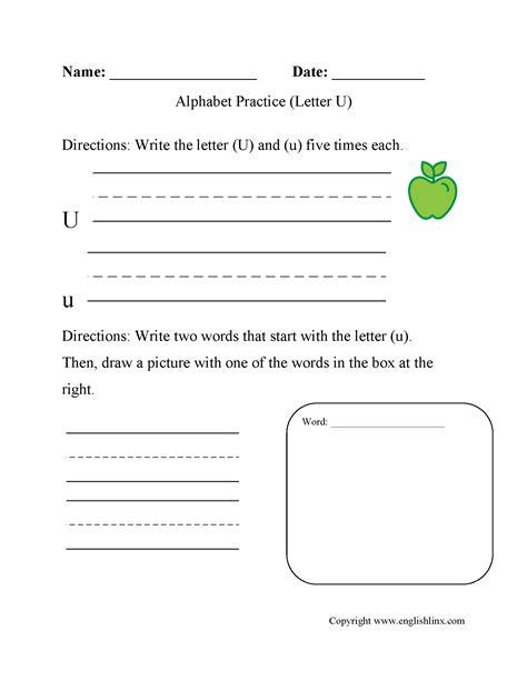 alphabet worksheets alphabet letters worksheets