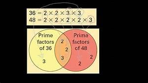 Gcf And Lcm Using A Venn Diagram