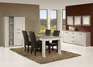 salle a manger contemporaine coloris andes oak humphy With salle À manger contemporaineavec chaises de sejour contemporaine