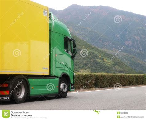brand new volvo truck new volvo fh truck editorial stock image image 62860629