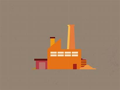 Factory Animated Animation Icon Loop Dribbble Flat