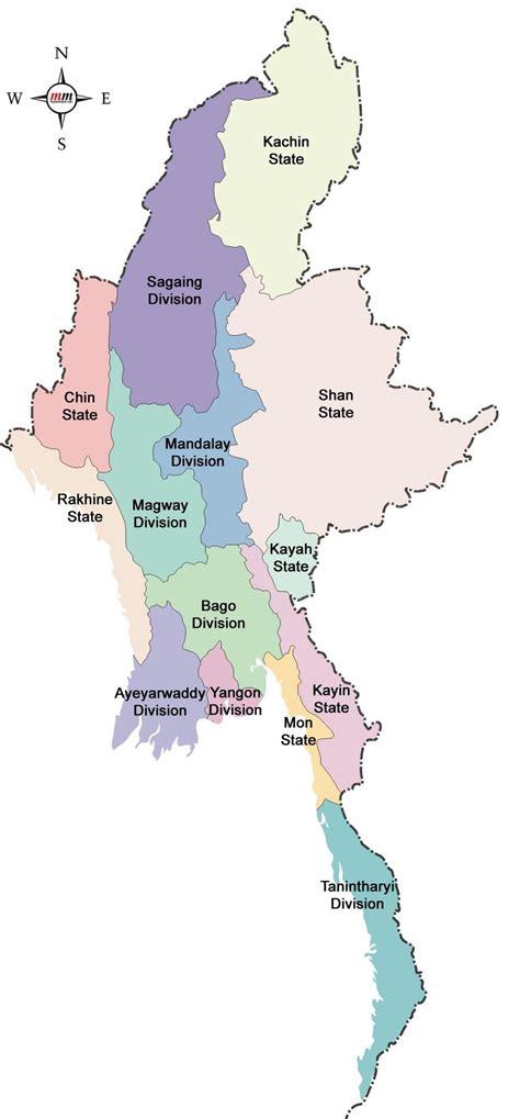 map  myanmar states rakhine state   parts