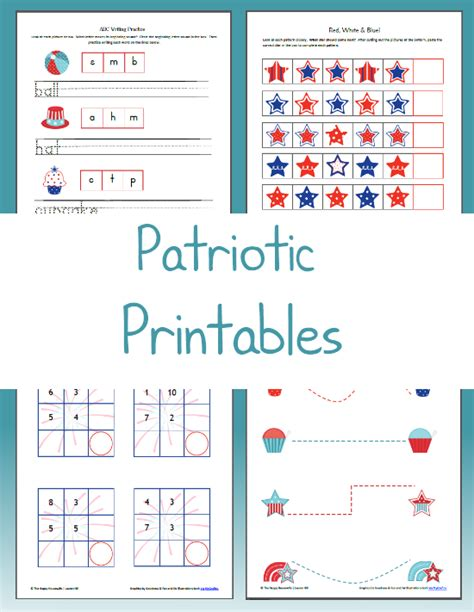 4th of july worksheets the happy home