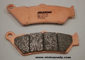 victory motorcycle brake pad high performance brembo rear
