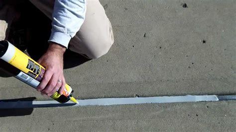 silicone caulk concrete expansion joints part 2 apply watertight