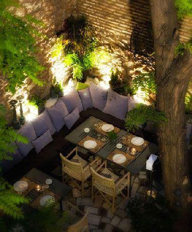 idees declairage table de jardin  piquer jardins