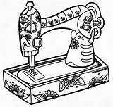 Sewing Coloring Pages Machine Skele Wenchkin Colouring Printable Drawing Books Yuccaflatsnm Pm Posted Adult sketch template