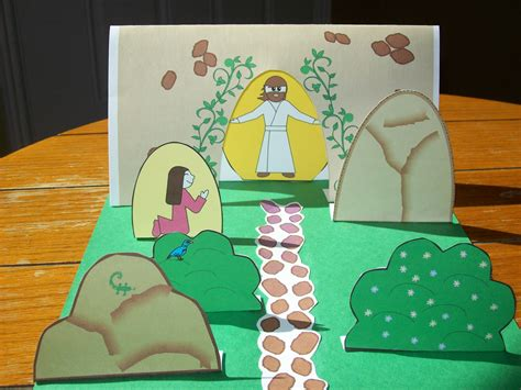 centered easter crafts amp activities time 419   printable easter story
