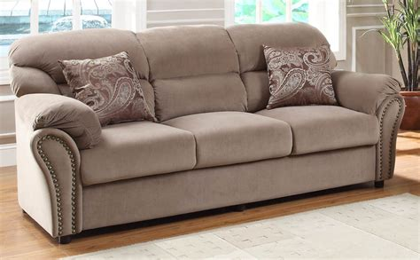 Microfiber Loveseat by Homelegance Furnishing Valentina Brown Microfiber Sofa Set