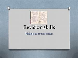 How to make summary notes
