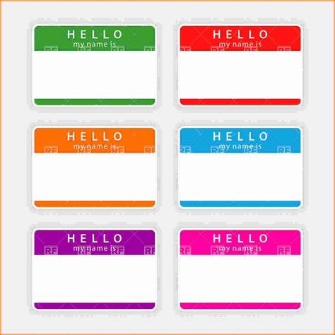 nametag template metal plate name tag template name
