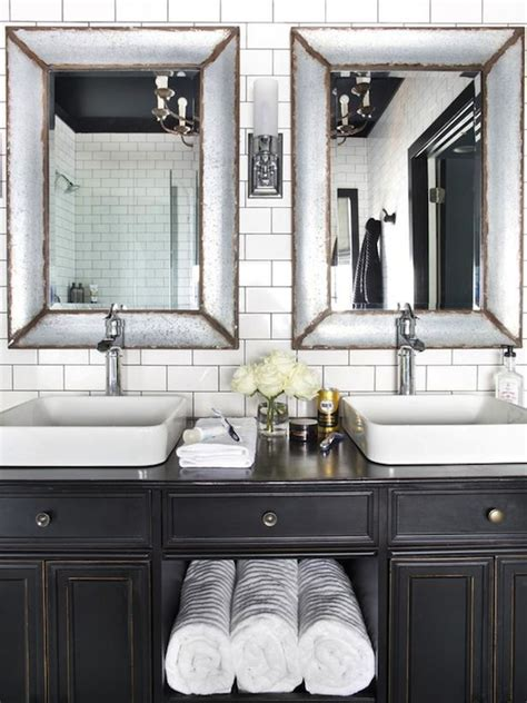 antiqued bathroom vanity contemporary bathroom hgtv