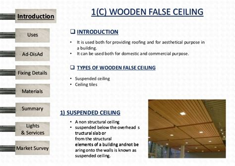 roofing material types false ceiling
