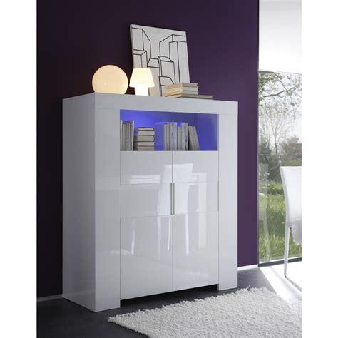 meuble haut laqu 233 blanc 2 portes eos mooviin