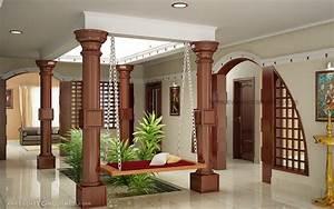 Evens, Construction, Pvt, Ltd, Courtyard, For, Kerala, House
