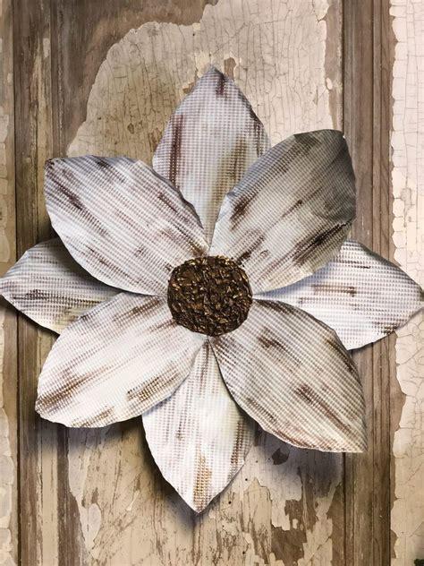 diy tin cookie sheet flower  shabby tree