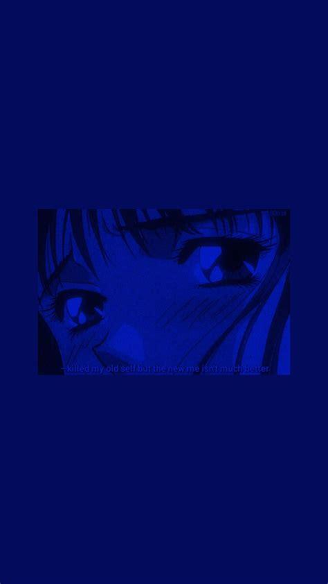 blue anime wallpaper lockscreen blue aesthetic