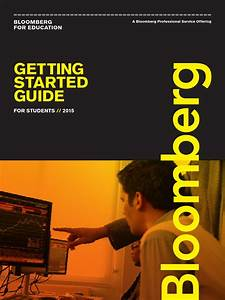 Getting Started Guide  Bloomberg For Education