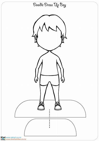 Dolls Paper Own Doll Template Printable Boy