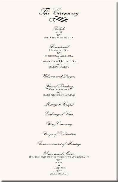 wedding ceremony programs wedding programs wedding