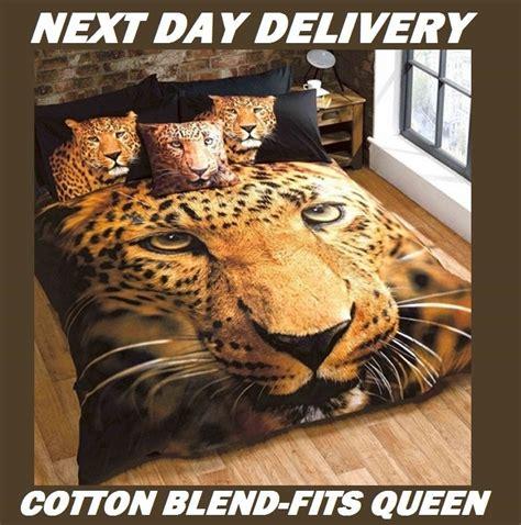 leopard animal queen kids licensed duvet bedding cover sets