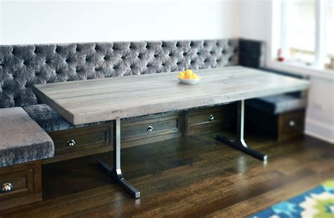 hand crafted reclaimed wood rustic grey dining table