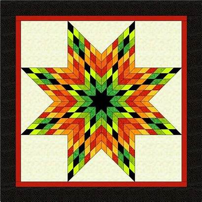Quilt Star Lone Pattern Patterns Quilting Quilts