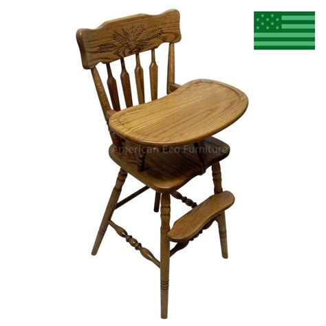 amish handcrafted whitman baby high chair solid wood