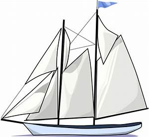 Boat Sail Sideways Clip Art at Clker.com - vector clip art ...
